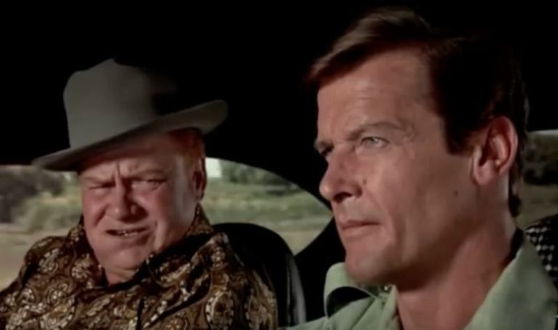 SUBMITTED PHOTO - Clifton James as Sheriff JW Pepper plays opposite Roger Moore as James Bond in 1974's 'The Man with the Golden Gun.'