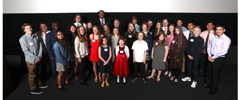 TRIBUNE PHOTO: JAIME VALDEZ - Kids from around Oregon who have made spectacular contributions to their community were honored at the fourth annual Amazing Kids event on Monday afternoon.
