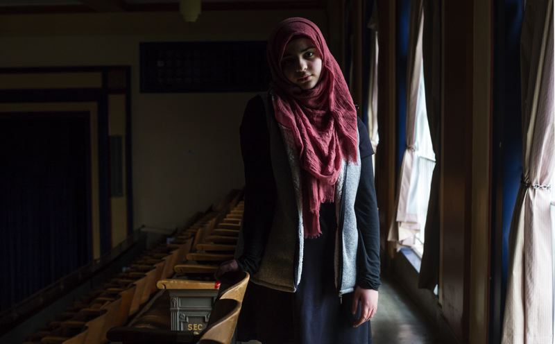 TRIBUNE PHOTO: JONATHAN HOUSE - Salsabel Al Masri, 14, is a refugee from Syria who left Jordan when schools there did not want to educate a Syrian refugee.