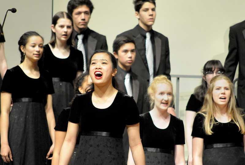 GARY ALLEN - The Veritas choir placed fifth at the OSAA 2A/1A state championships May 4 at George Fox University's Bauman Auditorium.