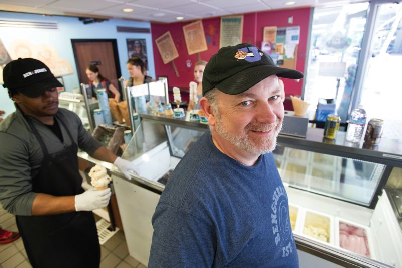 PORTLAND TRIBUNE: JAIME VALDEZ - People just like free stuff, says Jim Cooper, business manager of the Ben & Jerry's near PSU, trying to explain the long lines for his annual Free Cone Day. Behavioral economists say we'll value getting something cheap for free over saving larger amounts of money.