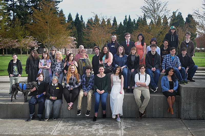 SUBMITTED BY PORTLAND REIGN PHOTOGRAPHY - Arts and Technology High School is expected to graduate 33 seniors this year. Top row, from left, Kylie LaFave, Austin McFarland, Angelica Weatherall, Nick Lopez, Niko Tonido, Jadrien Villarreal and Ethan Miller. Middle row, from left, Marko Yotsov, Devin Miller, Ashley Olson, Adam Sullivan, Sescily Butler, Jacob Miller, Ana Ruiz, John Wilson, Joey Zagone, Gavin Fesit, Sarah Sandoval, Deanna Childress, Ashlyn Porter, Griffin Frysinger, Bailey Matheson and Sam Kitzberger. Bottom row, from left, Gavin Urbana, AJ Lipps, Lauren Levin, Brandon Vahdat, Bella Tremaine, Jacky Crapo, Caleb Snyder and Diana Campos. Not pictured: Phoebe Lyons and Justice Saling.