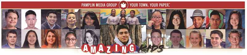 INDEPENDENT GRAPHIC - Amazing Kid Rafael Vasquez Lopez (center) and the 24 other nominees from the Woodburn area are great examples of amazing leadership among local youth.