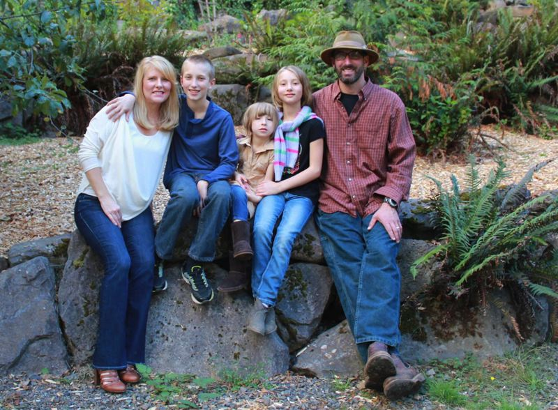 CONTRIBUTED PHOTO - Sandy Transit Director Andi Howell with her family.