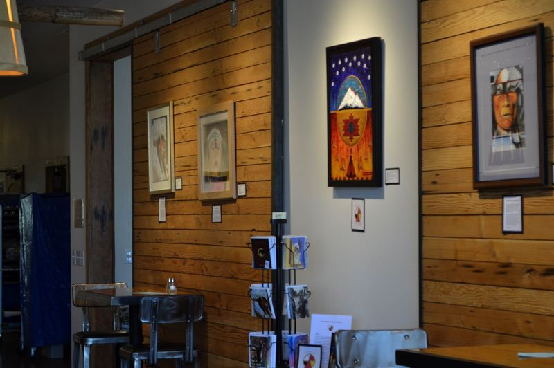 POST PHOTO: BRITTANY ALLEN - Art on display at AntFarm is from Native Americans in the Oregon correctional system and a select few local artists.