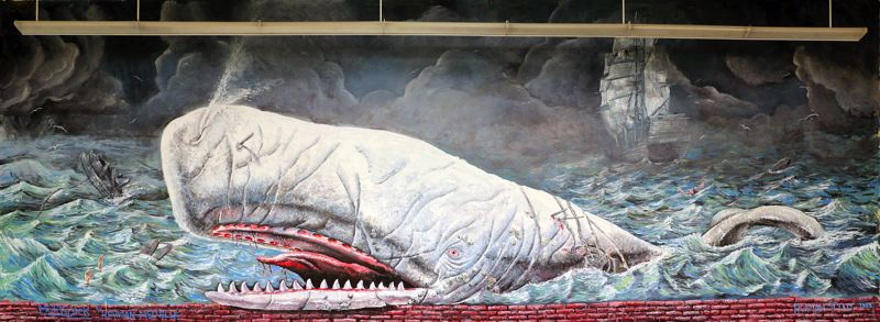 CONTRIBUTED PHOTO: OREGON TRAIL SCHOOL DISTRICT - Roman Scott' 'Moby Dick' mural as it stands in the old Sandy Union High School library.