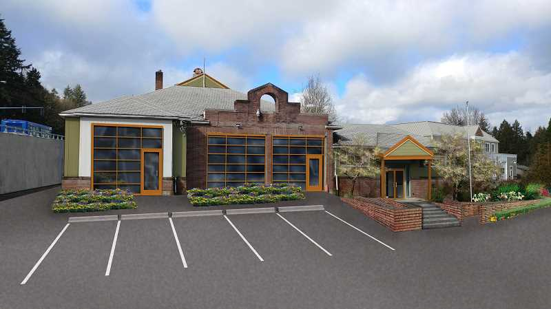 SUBMITTED GRAPHIC: ROSIE AUGUSTINE - A rendering shows what the Bolton Neighborhood Association envisions should the old Bolton Fire Station be renovated and converted into a community center.