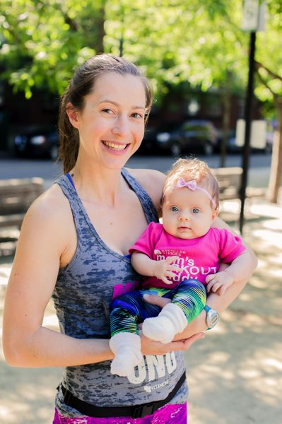 COURTESY: FIT4MOM - Megan Caldwell operates FIT4MOM in Northwest Portland. She is a mother of three children, including daughter Charley (above), who's now 1 year old.