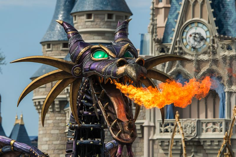 COURTESY: DISNEY - Michael Curry Design made a dragon that appeared in the Festival of Fantasy Parade at Walt Disney World in Florida.
