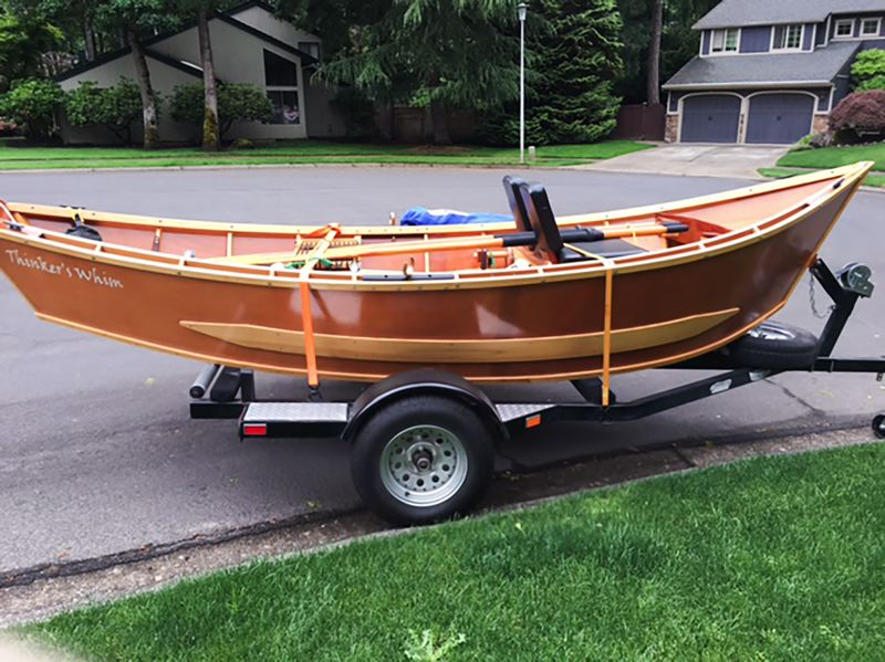 CONTRIBUTED - This 16-foot McKenzie River drift boat was handbuilt by a Lake Oswego man, who says it was rarely used and currently stored in his garage. He's estimated the value of the boat and a trailer at $5,000.