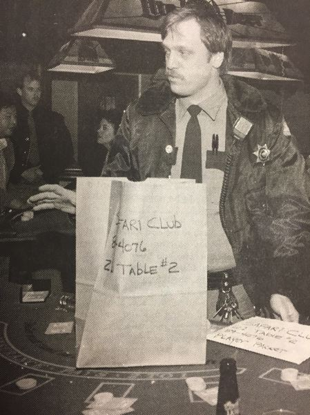"""ARCHIVE PHOTO - In 1989, more than 100 police officers participated in a gambling raid at the Safari Club and other establishments in Clackamas County. One Safari Club waitress was critical, asking """"Why did they come in here like the roaring 20s?"""""""