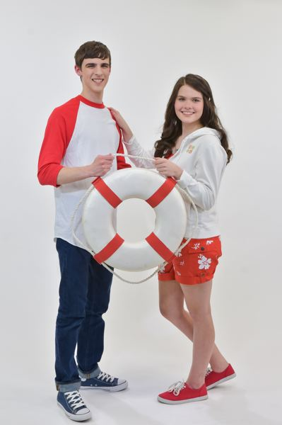SUBMITTED PHOTO - Troy Bolton (played by Draven Carrere) and Gabriella Montez (Cassidy Burton) are ready for some fun in the sun in Disney's 'High School Musical 2 Jr.'