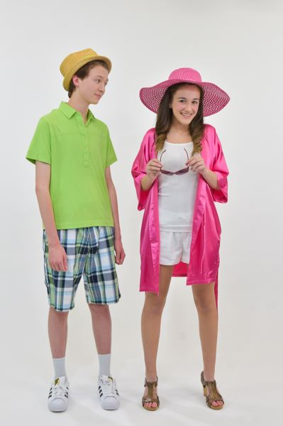SUBMITTED PHOTO - Ryan Evans (Ben Kautz) and Sharpay (Lexie Moormann) prepare for summer at Lava Springs Country Club in 'High School Musical 2 Jr,' opening Thursday at Alder Creek Middle School.