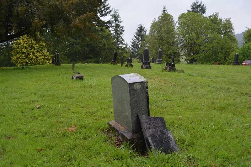 NEWS-TIMES/HILLSBORO TRIBUNE PHOTO: KATHY FULLER - Old cemeteries like Hill Cemetery in Gaston can fall into disrepair as stewards get older. Ken and Kris Bilderback will talk about the colorful history and the future of Hill Cemetery Saturday at the Washington County Museum.