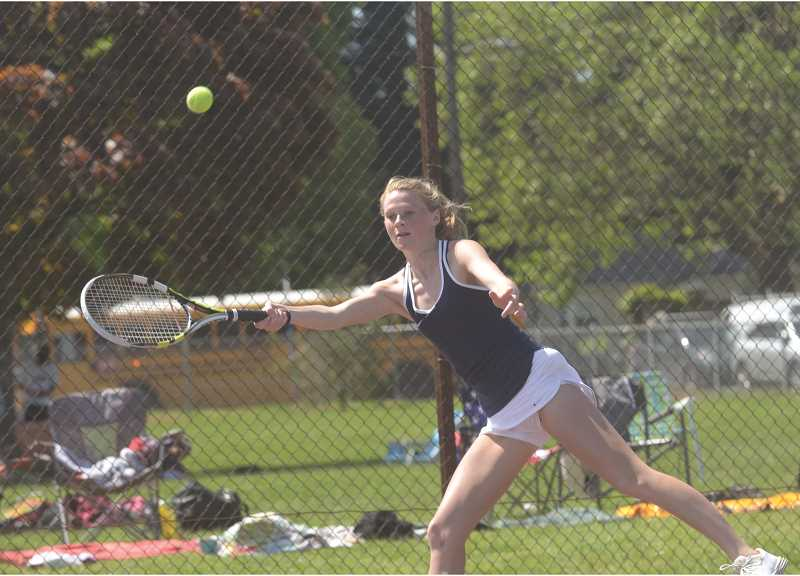 SPOKESMAN PHOTO: COREY BUCHANAN - Wilsonville singles player Samantha Monello placed third in league and qualified for state for the first time.