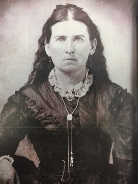CONTRIBUTED PHOTO - Lucy is pictured in mourning after the death of her husband Josiah in 1875.