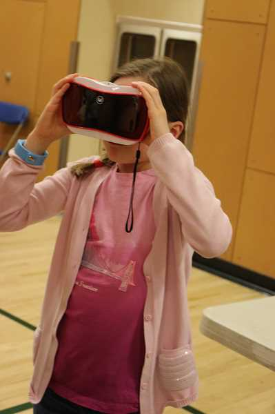 SUBMITTED PHOTO - A Boones Ferry student gets a virtual reality experience Monday, May 8.