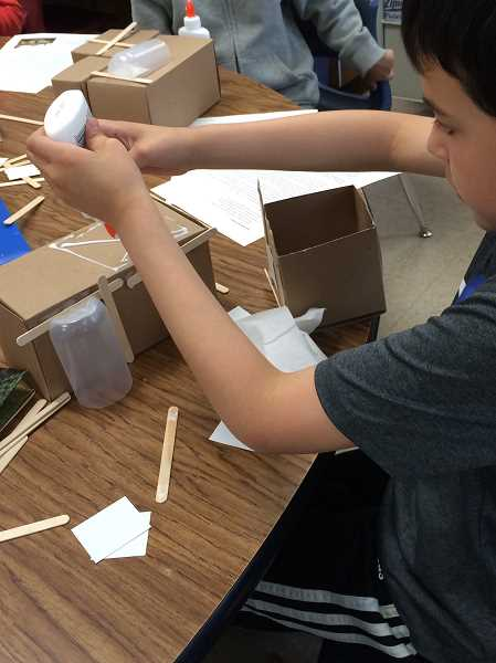 COURTESY PHOTO - Students got creative, producing Pikachu houses, dog-themed houses and more.
