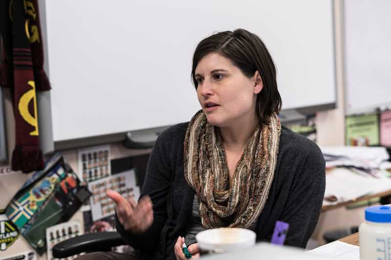 NEWS-TIMES FILE PHOTO: CHASE ALLGOOD - 'There's this idea of the teacher is in control,' says Dawn Nelson. 'It can feel risky and disorienting to surrender some of that control and look to students for help. Its hard to hear a student say, 'This doesnt work for me.''