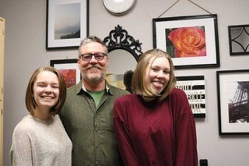 PHOTO COURTESY OF CREASY FAMILY - After: Ava, Brian and Tess Creasy show off their short hair.