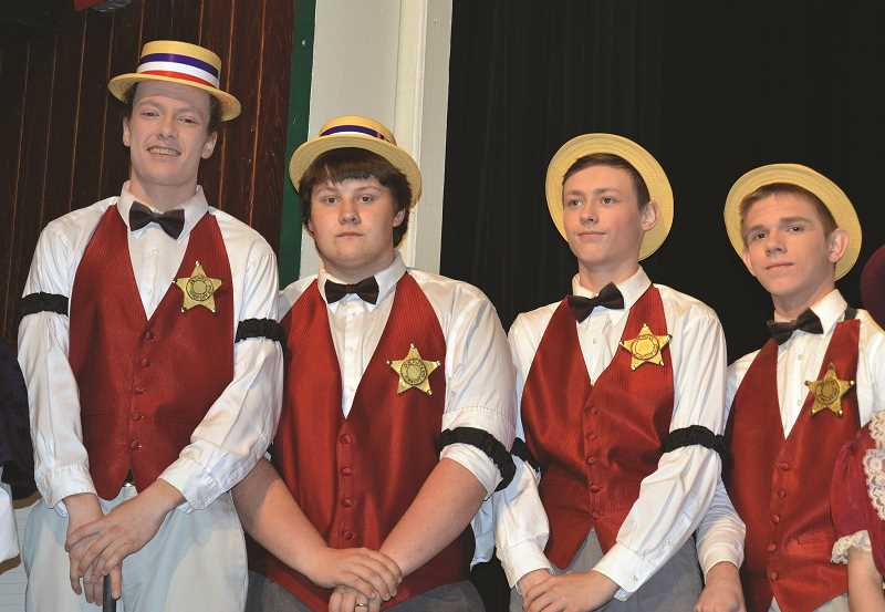 CINDY FAMA - Barbershop quartet left to right Austin Carlisle, Boone Bigonovich, Cayse Teach and Nichola Bryant