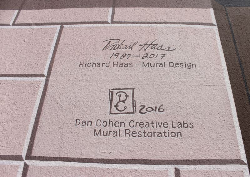 TRIBUNE PHOTO: LYNDSEY HEWITT - The artists signatures on the building were unveiled on Saturday.