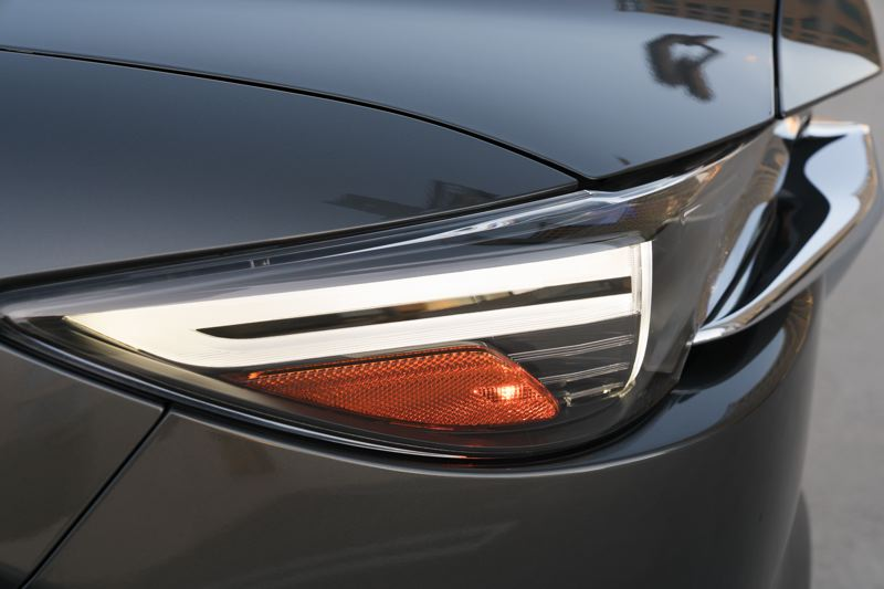 MAZDA NORTH AMERICAN OPERATIONS - Narrower headlights are among the most dramatic new features on the redesigned 2017 Mazda CX-5.