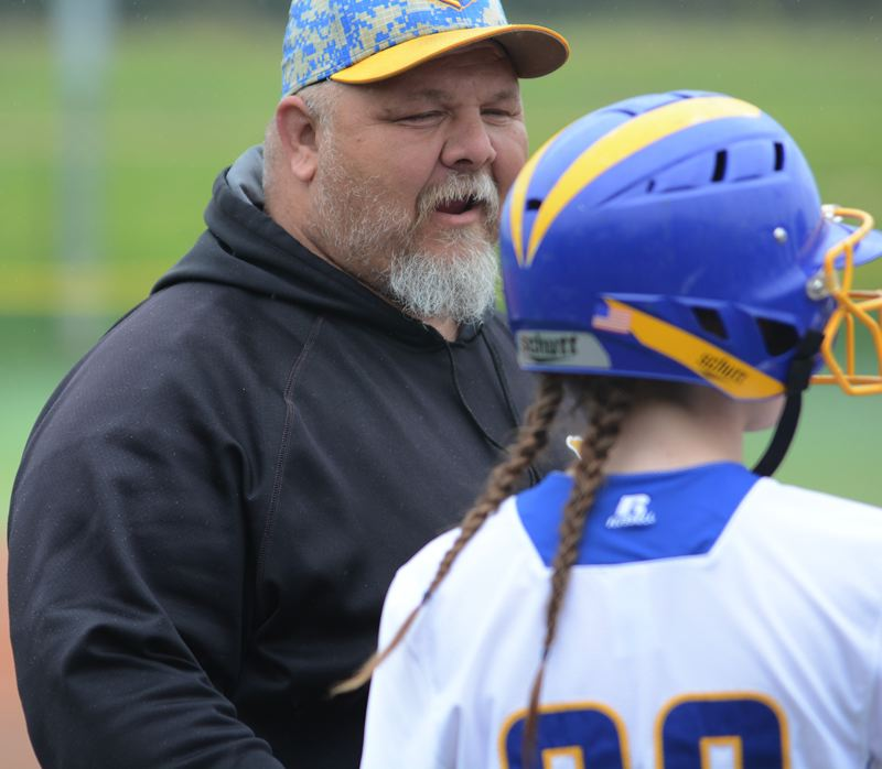 OUTLOOK PHOTO: DAVID BALL - Barlow coach Rob Gerhke has the Bruins into the second round of the playoffs after a 9-0 shutout over Sheldon in Mondays first round.