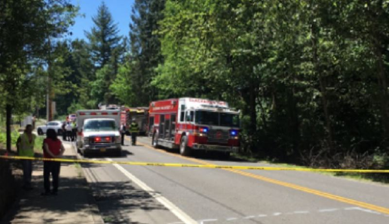 PHOTO COURTESY: CLACKAMAS COUNTY SHERIFFS OFFICE - A fatal crash in Happy Valley closed Southeast 122nd Avenue between Sunnyside and Mountain Gate roads on May 23.