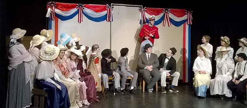 PIONEER PHOTO: CINDY FAMA  - Professor Harold Hill (Nick Davenport) explains how it all worked out for the best.