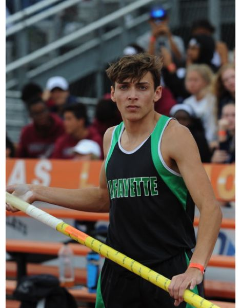 COURTESY: BERT RICHARDSON/DYESTAT.COM - A 17-year-old from Louisiana, Armand Duplantis, is the world's leading pole vaulter of 2017, as he and other top track and field athletes descend upon Eugene for the annual Prefontaine Classic.