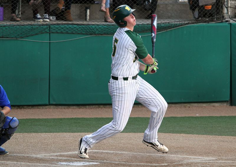 PMG PHOTO: MILES VANCE - West Linn senior Jake Porter and the top-ranked Lions host No. 8 Gresham in the quarterfinals of the Class 6A state baseball playoffs at 5 p.m. today.