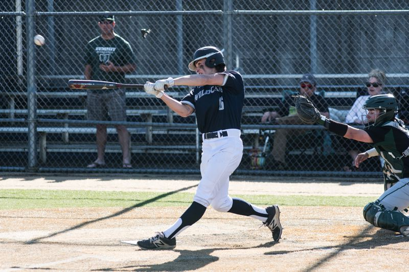 SUBMITTED PHOTO: GREG ARTMAN - Wilsonville shortstop Trevor Antonson hit a two-run home run and a ground rule double in the first two innings of the game.