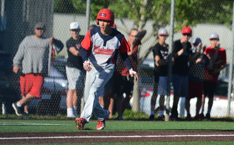 PAMPLIN MEDIA: DAVID BALL - Westviews Jason Tai had everyones attention when he moved off third base with the potential tying run in the seventh inning.