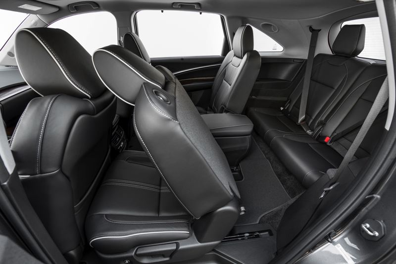 AMERICAN HOMDA MOTOR CO. - The rear seats in the 2017 Acura MDX Sport Hybrid are roomy and the last one is easy to reach.