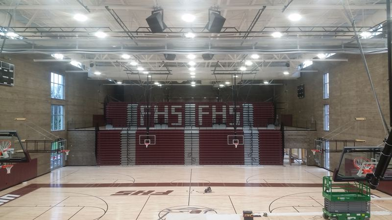 COURTESY: FRANKLIN HIGH SCHOOL - The new gym at Franklin High awaits the return of the Quakers to a remodeled school in 2017-18.