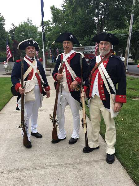 PHOTO BY LARRY LEE SAWYER - Sons of the American Revolution participated in the Beaverton Memorial Day event.