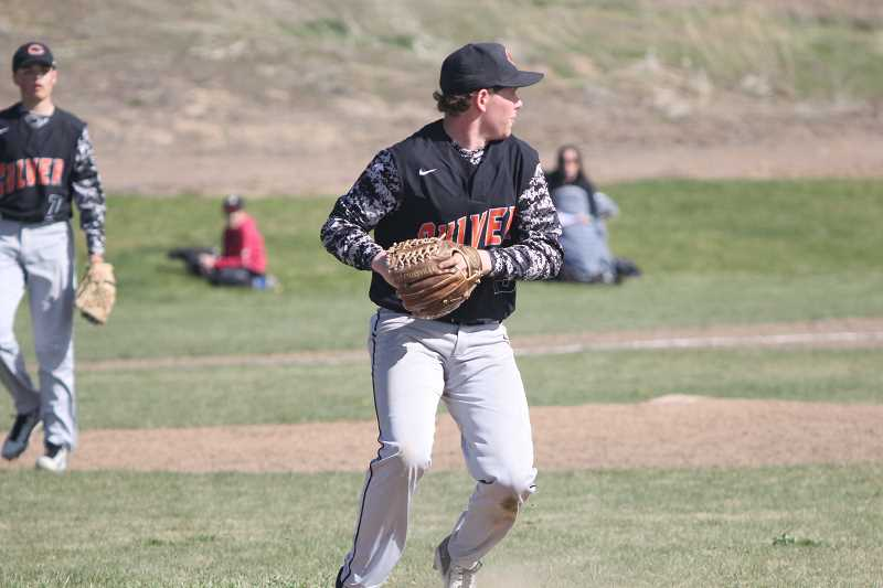 WILL DENNER/MADRAS PIONEER - Culver junior Cole Little was recognized by Special District 6 coaches as a second-team, all-league selection at first base.