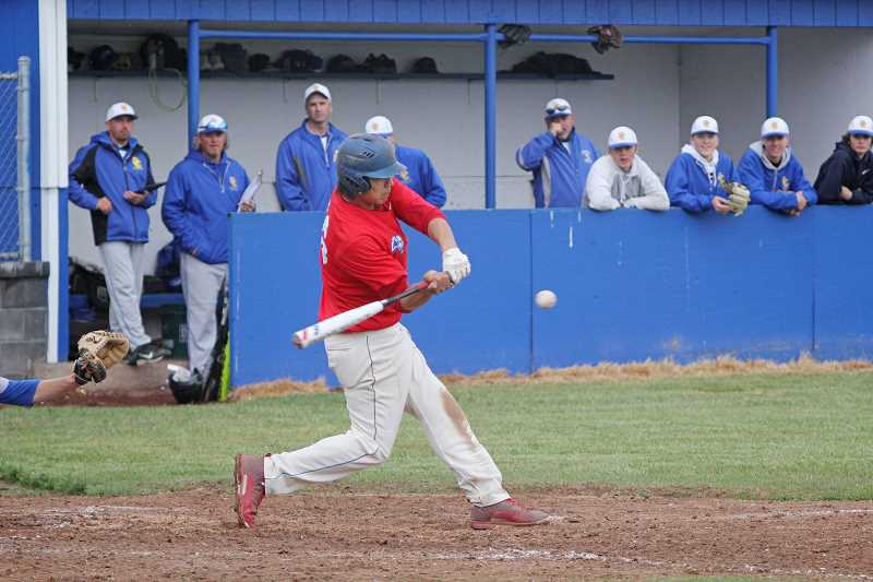WILL DENNER/MADRAS PIONEER - Primarily playing third base during the 2017 season, junior Kanim Smith earned a second-team infielder nod.