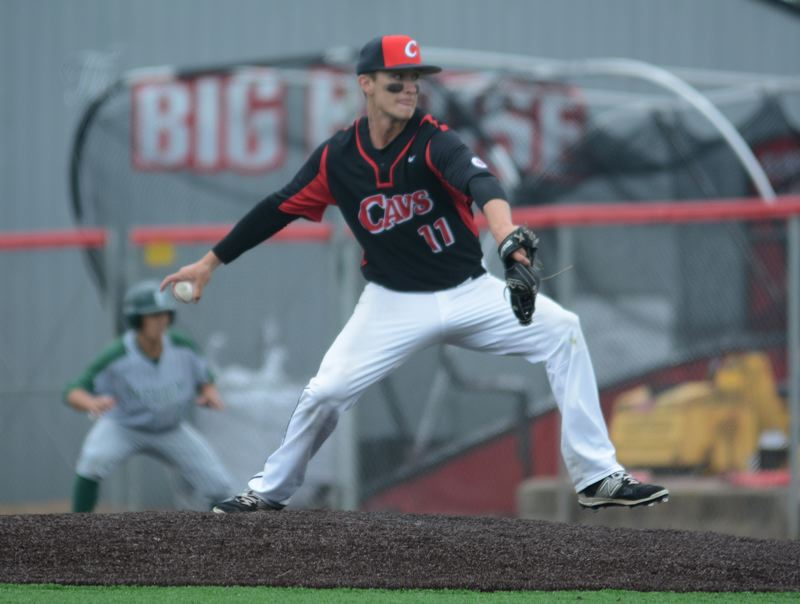 PAMPLIN MEDIA: DAVID BALL - Clackamas pitcher Caden Hennessy went the distance on the mound where he retired 12 straight batters during the middle innings.