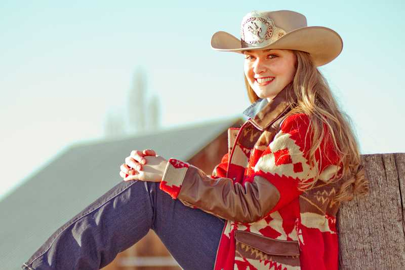 PHOTO COURTESY OF RM IMAGES - Crooked River Roundup Queen Sarah Tolton looks forward to Roundup week festivities, June 23-25 in Crook County.