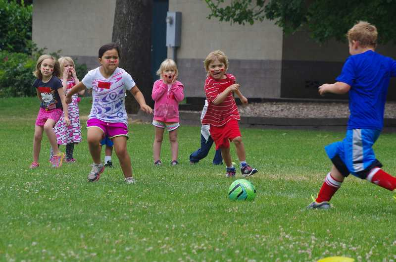 SUBMITTED PHOTO: J. DRAYTON - Sign up for Shorty Sporty Camp, which gives 4- to 6 year-olds an introduction to sports.