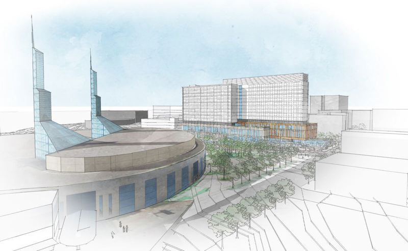 SOURCE: METRO - The plaza will front toward the upcoming Hyatt Regency hotel, creating cohesive access for visitors staying there for conventions.