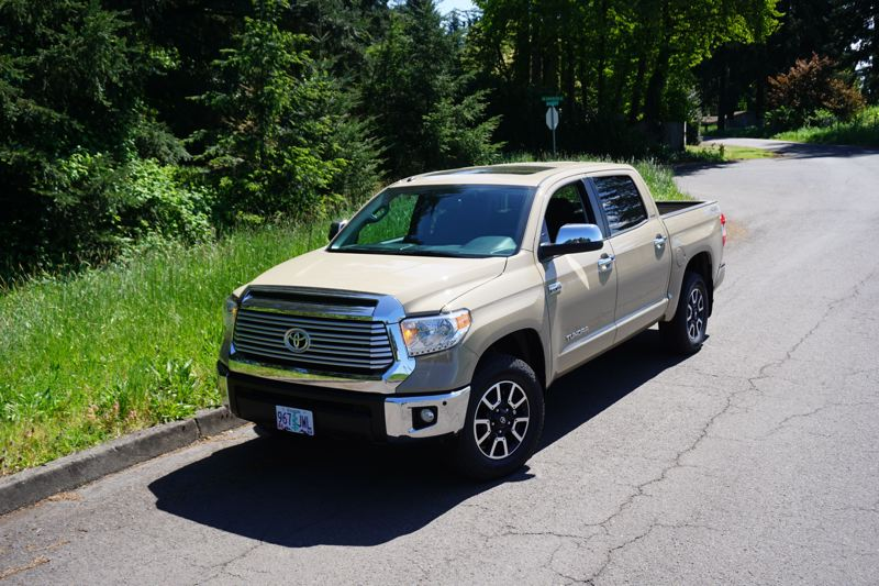 PORTLAND TRIBUNE: JEFF ZURSCHMEIDE - With its capable 5.7-liter V8 engine, the new Toyota Tundra can tow up to 10,500 pounds, and offers a payload of 2,080 pounds in its 5-foot, 6-inch bed. That's good news to people towing boats or utility trailers alike, and those who need to haul a lot of stuff.