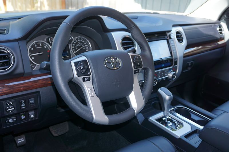 PORTLAND TRIBUNE: JEFF ZURSCHMEIDE - The Tundra offers an interior that is both functional and luxurious. The seats are firm and offer good back support, which is critical if you spend a lot of time in your truck.