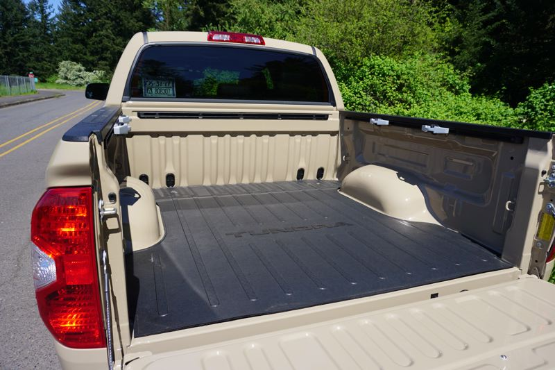 PORTLAND TRIBUNE: JEFF ZURSCHMEIDE - The 2017 Toyota Tundra is ready for work or play, with tie-downs for securing loads in the bed.