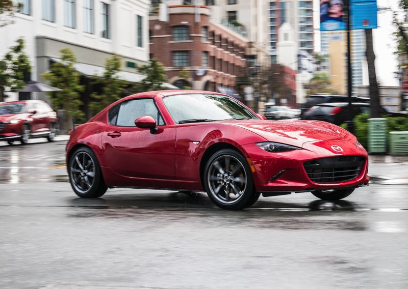 MAZDA USA - The 2017 Mazda MX-5 Miata RF looks great with the top up and even better with it down.