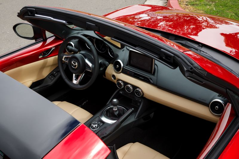 MAZDA USA - Open air motor is what the 2017 Mazda MX5 Miata is all about with the top down.