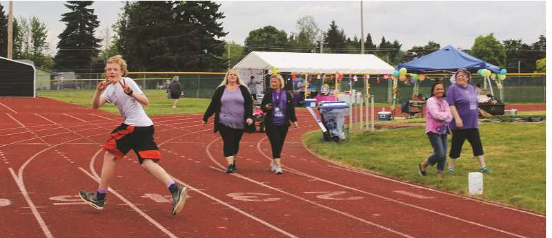 PEGGY SAVAGE - Molalla Relay is held annually at the MHS Heckard Field