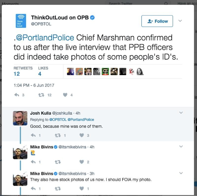 TWITTER - Think Out Loud had to inform their followers on social media of the bureau's mistake